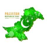 idérikt vektorabstrakt begrepp för den lyckliga Pakistan dagen, vektormall Arkivbilder