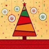 Idérikt Xmas-träd för glad jul Royaltyfria Bilder