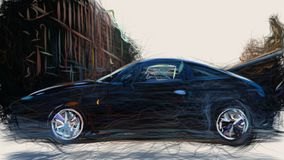 ID 1992 гиены Lancia 2099 иллюстрация штока