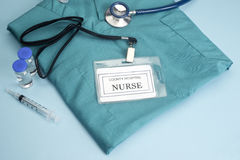 ID медсестры Стоковое Изображение