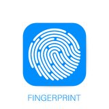 ID app ikona fingerprint Pojęcie osobista dane ochrona również zwrócić corel ilustracji wektora ilustracja wektor