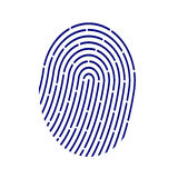 ID application icon. Fingerprint vector illustration  on white background. Royalty Free Stock Photos