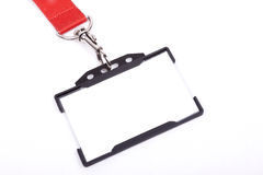 ID badge on white background Royalty Free Stock Photo