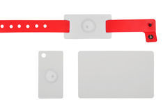 Id bracelet and cards Stock Image