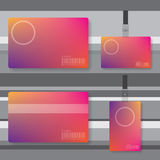 Id card abstract illustration Royalty Free Stock Photography
