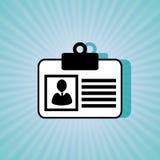 ID card design Stock Image