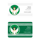 ID Card with Girl Angel in White Royalty Free Stock Photo