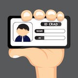 ID CARD IN HAND Stock Photography