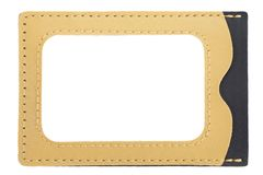 Id card holder leather Stock Photos