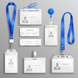 ID Card Holders Realistic Set Royalty Free Stock Image