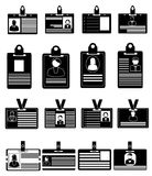 ID card icons set Stock Image