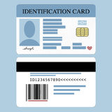 Id Card. Illustration of front and back id card Royalty Free Stock Photos