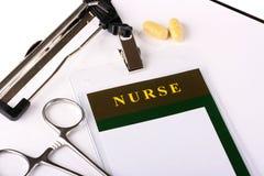 ID Card nurse Royalty Free Stock Image