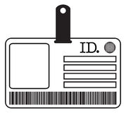 ID Card Silhouette Stock Images