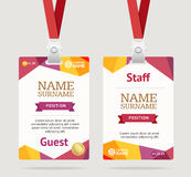 Id Card Template Plastic Badge. Vector Stock Photos