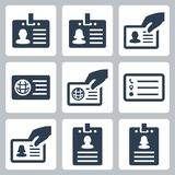 ID card vector icons royalty free illustration