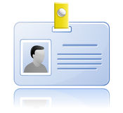 ID card. Vector Name Tag. Royalty Free Stock Images