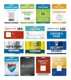ID Cards. Illustration of a Standard ID identity cards and pass on white background Royalty Free Stock Photos
