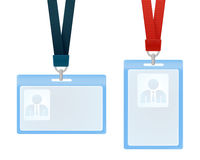 ID cards. Vector illustration of identification cards with place for photo and text Stock Photo