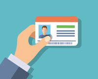 Id cards in hand Royalty Free Stock Photos
