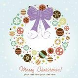 idérik designkran för jul Arkivfoto