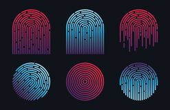 ID Finger Print Vector Design. Icons Stock Photos