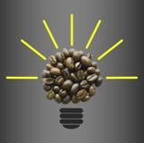 Idé för kaffebönor Arkivbild