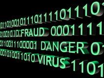 ID fraud. Concept over black background vector illustration