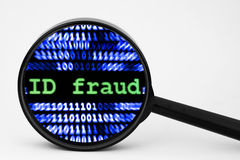 ID fraud. Close up of ID fraud concept Royalty Free Stock Image