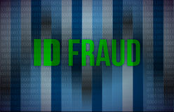 ID fraud binary background Stock Image
