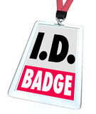 ID Identification Badge Name Tag Access Credentials Stock Images