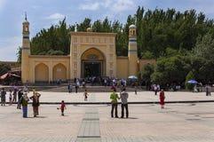 Id Kah meczet w mie?cie Kashgar, Xinjiang, Chiny zdjęcie royalty free
