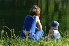 idź nad jezioro Zdjęcia Royalty Free