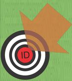 ID target with arrow.  Identity theft concept. Stock Photography