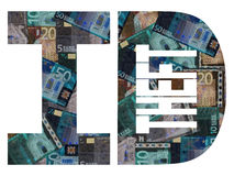 ID theft with Euros Royalty Free Stock Photography
