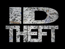 ID theft with shredded paper Royalty Free Stock Photos