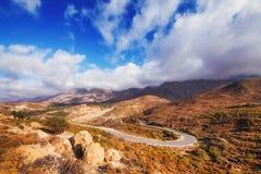 Ida mountain range in the south side of Crete island. Greece stock photography