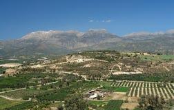Ida Mountains in crete island. Valley in Ida Mountains in crete island Stock Photo