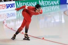 Ida Njatun - åka skridskor för hastighet Royaltyfri Bild