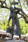 Ida Schumacher pomnik na Viktualienmarkt rynku, Mun Zdjęcia Royalty Free