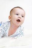 Idade de sorriso do bebê de 3 meses Imagem de Stock Royalty Free