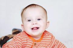 Idade de sorriso do bebê de 5 meses Imagem de Stock Royalty Free