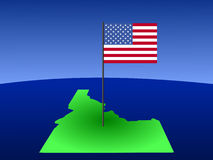 Idaho with American Flag Royalty Free Stock Images
