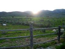 Idaho berg på solnedgången Royaltyfria Bilder