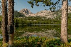 Idaho bergsjö i morgontimmen med reflexionen av Det royaltyfri foto