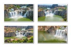 Idaho cae collage Imagenes de archivo