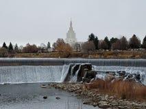 Idaho cai templo de LDS imagens de stock royalty free