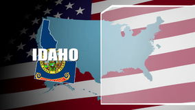 Idaho Countered Flag and Information Panel stock video footage