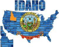 Idaho en una pared de ladrillo Imágenes de archivo libres de regalías
