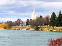 Idaho fällt Grüngürtel stockbilder